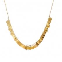 Loisir κολιέ 01L27-00700 από χρυσό ανοξείδωτο ατσάλι (Stainless Steel) με μικρά στρογγυλά στοιχεία