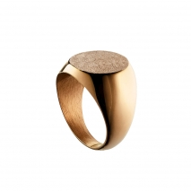 Loisir Stainless Steel Ring 04L27-00741 with Ion Plated Rose Gold