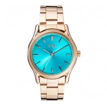 Loisir ρολόι 11L05-00357 με ροζ χρυσή μεταλλική κάσα και μπρασελέ.