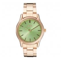 Loisir ρολόι 11L05-00358 με ροζ χρυσή μεταλλική κάσα και μπρασελέ.