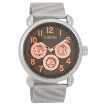 OOZOO Timepieces C9613 unisex ρολόι με ασημί μεταλλική κάσα και ασημί μπρασελέ