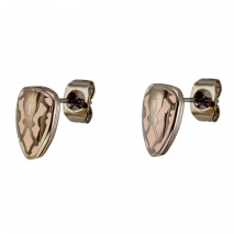 Oxette σκουλαρίκια 03X03-00044 από σκούρο γκρι ανοξείδωτο ατσάλι (Stainless Steel) με ημιπολύτιμες πέτρες (Σμάλτο)