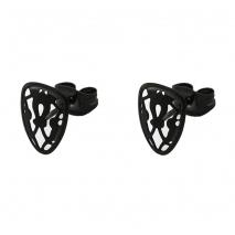 Oxette σκουλαρίκια 03X03-00049 από μαύρο ανοξείδωτο ατσάλι (Stainless Steel)