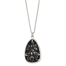 Oxette 01X03-00176 Black Stainless Steel Necklace
