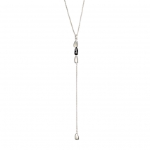 Oxette 01X03-00179 Black Stainless Steel Necklace