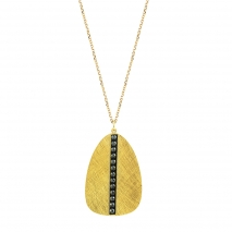 Oxette κολιέ 01X05-02241 από επιχρυσωμένο ασήμι 925ο με ημιπολύτιμες πέτρες (Κρύσταλλοι Quartz)