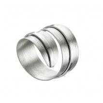 Oxette δαχτυλίδι 04X01-03520 από επιπλατινωμένο ασήμι 925ο