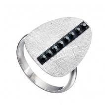 Oxette δαχτυλίδι 04X01-03535 από επιπλατινωμένο ασήμι 925ο με ημιπολύτιμες πέτρες (Κρύσταλλοι Quartz)
