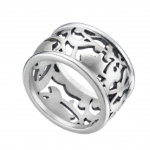 Oxette δαχτυλίδι 04X03-00154 από ανοξείδωτο ατσάλι (Stainless Steel)