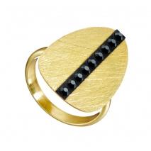 Oxette δαχτυλίδι 04X05-01341 από επιχρυσωμένο ασήμι 925ο με ημιπολύτιμες πέτρες (Κρύσταλλοι Quartz)