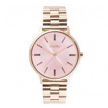 Oxette ρολόι 11X05-00532 από ανοξείδωτο ατσάλι με ροζ χρυσή επιμετάλλωση στην κάσα και μπρασελέ