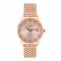 Oxette 11X05-00540 Stainless Steel Watch with rose gold case and bracelet af24652b837