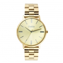 Oxette 11X05-00547 Stainless Steel Watch with gold case and bracelet