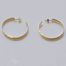Handmade sterling silver earrings Eight-Earrings-ER-00395 hoops with gold plating 2