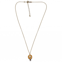 Handmade sterling silver necklace Eight-Necklace-NK-00393 with gold plating and semi-precious stones (pearls and zirconia) Full