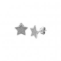 Loisir σκουλαρίκια 03L03-00174 αστέρι από ανοξείδωτο ατσάλι (stainless steel) με ημιπολύτιμες πέτρες (κρύσταλλοι quartz)