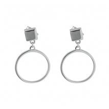 Loisir σκουλαρίκια 03L03-00178 κρίκοι από ανοξείδωτο ατσάλι (stainless steel)