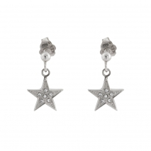 Loisir σκουλαρίκια 03L03-00188 αστέρι από ανοξείδωτο ατσάλι (stainless steel) με ημιπολύτιμες πέτρες (κρύσταλλοι quartz)