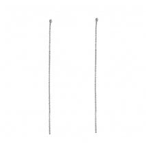 Loisir σκουλαρίκια 03L15-00383 μακριά από ασημί ορείχαλκο με ημιπολύτιμες πέτρες (κρύσταλλοι quartz)