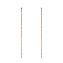 Loisir σκουλαρίκια 03L15-00389 μακριά από ροζ ορείχαλκο με ημιπολύτιμες πέτρες (κρύσταλλοι quartz)