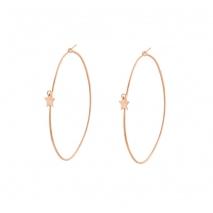 Loisir σκουλαρίκια 03L15-00392 κρίκοι αστέρι από ροζ ορείχαλκο