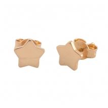 Loisir σκουλαρίκια 03L15-00394 αστέρι από ροζ ορείχαλκο