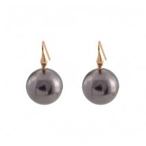 Loisir σκουλαρίκια 03L15-00403 από ροζ ορείχαλκο με ημιπολύτιμες πέτρες (πέρλες)