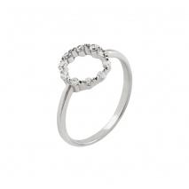 Loisir δαχτυλίδι 04L01-04374 από επιπλατινωμένο ασήμι με ημιπολύτιμες πέτρες (ζιργκόν)