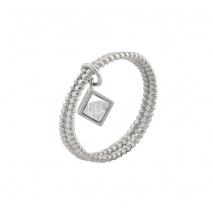 Loisir δαχτυλίδι 04L01-04376 από επιπλατινωμένο ασήμι με ημιπολύτιμες πέτρες (ζιργκόν)