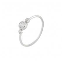 Loisir δαχτυλίδι 04L01-04378 από επιπλατινωμένο ασήμι με ημιπολύτιμες πέτρες (ζιργκόν)