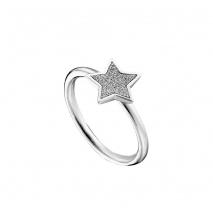 Loisir δαχτυλίδι 04L03-00267 αστέρι από ανοξείδωτο ατσάλι (Stainless Steel) με ημιπολύτιμες πέτρες (κρύσταλλοι quartz)