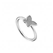 Loisir δαχτυλίδι 04L03-00269 πεταλούδα από ανοξείδωτο ατσάλι (Stainless Steel) με ημιπολύτιμες πέτρες (κρύσταλλοι quartz)