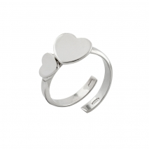 Loisir δαχτυλίδι 04L03-00275 καρδιά από ανοξείδωτο ατσάλι (Stainless Steel)