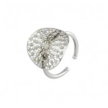 Loisir δαχτυλίδι 04L15-00139 από ασημί ορείχαλκο με ημιπολύτιμες πέτρες (κρύσταλλοι quartz)