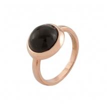 Loisir δαχτυλίδι 04L15-00146 από ροζ ορείχαλκο με ημιπολύτιμες πέτρες (κρύσταλλοι quartz)