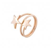 Loisir δαχτυλίδι 04L15-00148 αστέρια από ροζ ορείχαλκο
