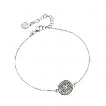Oxette βραχιόλι 02X01-02991 από επιπλατινωμένο ασήμι 925ο με ημιπολύτιμες πέτρες (κρύσταλλοι quartz)
