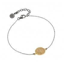 Oxette βραχιόλι 02X05-01744 από επιχρυσωμένο ασήμι 925ο με ημιπολύτιμες πέτρες (ζιργκόν)