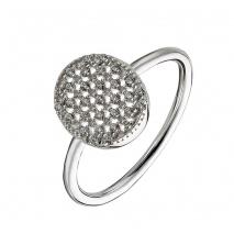 Oxette δαχτυλίδι 04X01-03545 από επιπλατινωμένο ασήμι 925ο με ημιπολύτιμες πέτρες (ζιργκόν)