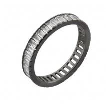 Oxette δαχτυλίδι 04X01-03555 από μαύρο επιπλατινωμένο ασήμι 925ο με ημιπολύτιμες πέτρες (κρύσταλλοι quartz)