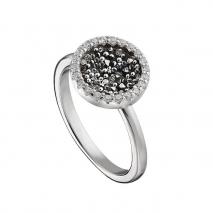 Oxette δαχτυλίδι 04X01-03566 από επιπλατινωμένο ασήμι 925ο με ημιπολύτιμες πέτρες (ζιργκόν)