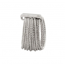 Oxette δαχτυλίδι 04X01-03572 σπιράλ από επιπλατινωμένο ασήμι 925ο