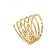 Oxette δαχτυλίδι 04X05-01305 σπιράλ από επιχρυσωμένο ασήμι 925ο