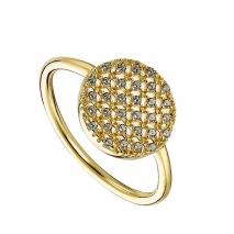 Oxette δαχτυλίδι 04X05-01367 από επιχρυσωμένο ασήμι 925ο με ημιπολύτιμες πέτρες (ζιργκόν)