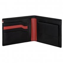Ανδρικό πορτοφόλι Visetti XL-WA002B από γνήσιο δέρμα σε μαύρο χρώμα ανοιγμένο