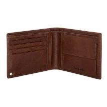 Ανδρικό πορτοφόλι Visetti XL-WA006C από γνήσιο δέρμα σε καφέ χρώμα ανοιγμένο