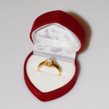Handmade wedding ring with sterling silver gold plating and precious stones (zircon) IJ-010476-G in gift box