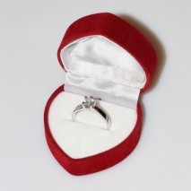 Handmade wedding ring with sterling silver platinum plating and precious stones (zircon) IJ-010481-S in gift box