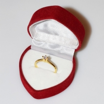 Handmade wedding ring with sterling silver gold plating and precious stones (zircon) IJ-010484-G in gift box