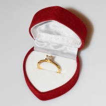 Handmade wedding ring with sterling silver gold plating and precious stones (zircon) IJ-010487-G in gift box